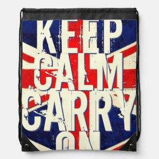 Vintage United Kingdom Union Jack Flag Backpack