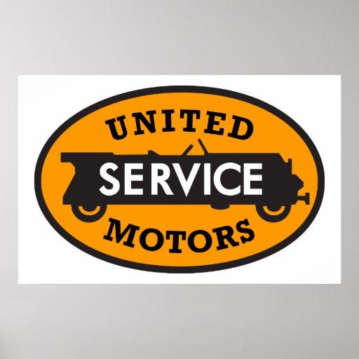 Vintage United Motors Service Sign Poster Zazzle