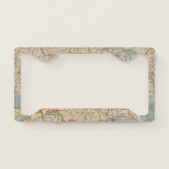 License Plate State Map.Vintage United State Map License Plate Frame Zazzle Com