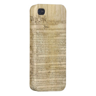 Vintage United States Constitution Covers For iPhone 4