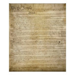 Vintage United States Constitution Poster