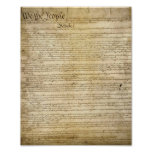 Vintage United States Constitution Print