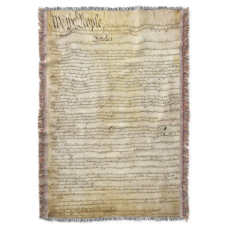 Vintage United States Constitution Throw