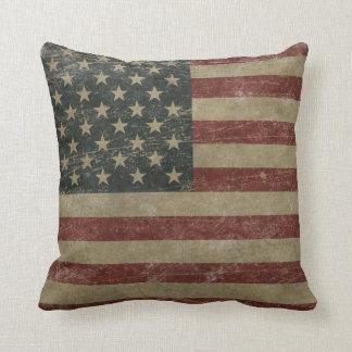 Vintage United States Flag Throw Pillow