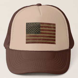 Vintage United States Flag Trucker Hat