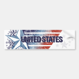 Vintage United States Flag with Star– Memorial Day Bumper Sticker