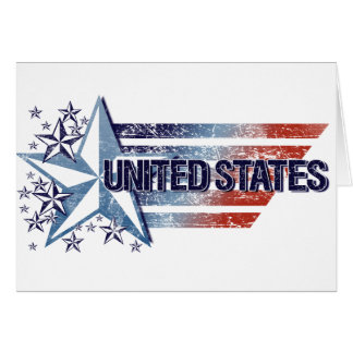 Vintage United States Flag with Star– Memorial Day Card