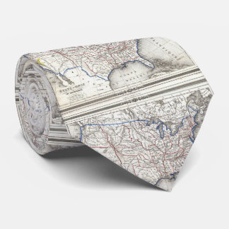 Vintage United States Gold Rush Regions Map (1852) Tie