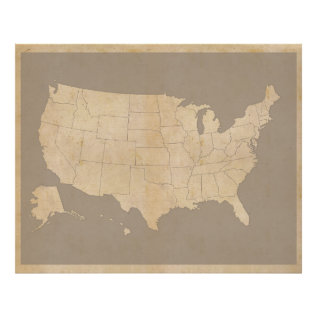 Vintage United States Map Poster at Zazzle