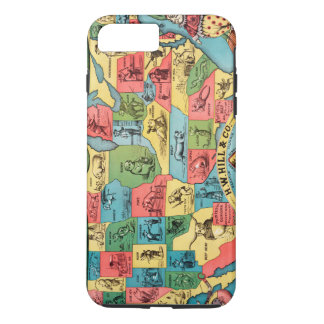 Vintage United States Nicknames Map iPhone 8 Plus/7 Plus Case