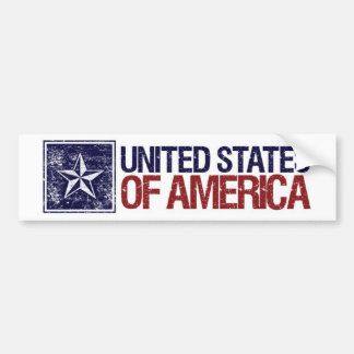 Vintage United States with Star – 4th of July Bumper Sticker