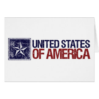 Vintage United States with Star – 4th of July Card