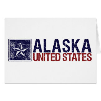 Vintage United States with Star – Alaska Card