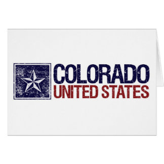 Vintage United States with Star – Colorado Card