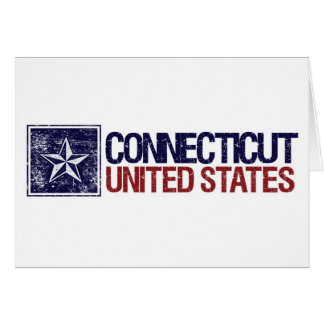 Vintage United States with Star – Connecticut Card