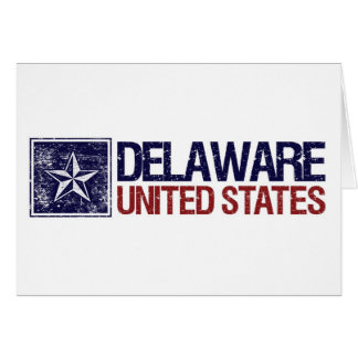 Vintage United States with Star – Delaware Card