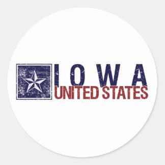 Vintage United States with Star – Iowa Sticker