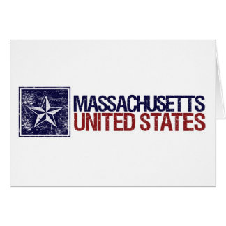 Vintage United States with Star – Massachusetts Card
