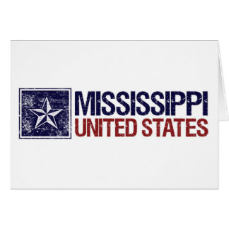 Vintage United States with Star – Mississippi Card