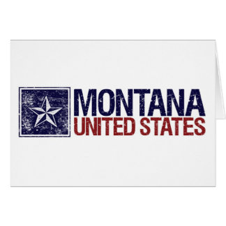 Vintage United States with Star – Montana Card