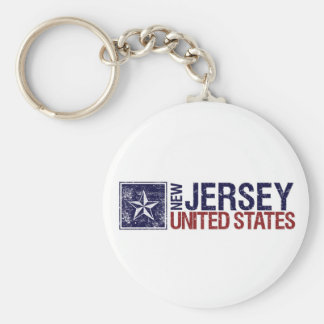 Vintage United States with Star – New Jersey Key Chain