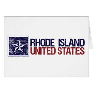 Vintage United States with Star – Rhode Island Greeting Cards