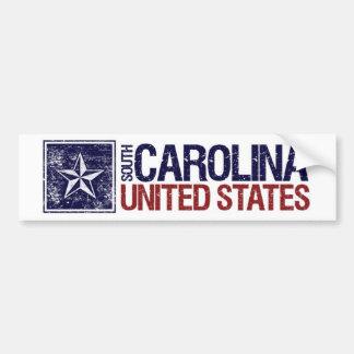 Vintage United States with Star – South Carolina Bumper Sticker