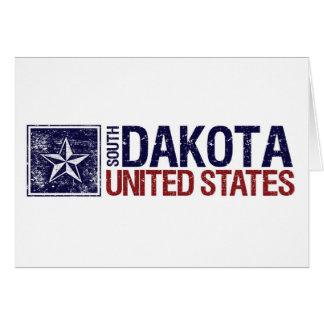 Vintage United States with Star – South Dakota Card
