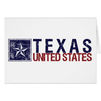 Vintage United States with Star – Texas Card