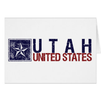 Vintage United States with Star – Utah Card