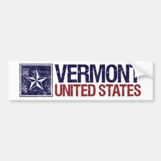 Vintage United States with Star – Vermont Bumper Sticker