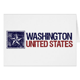 Vintage United States with Star – Washington Card