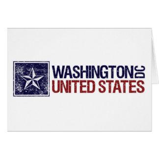Vintage United States with Star – Washington D.C. Card