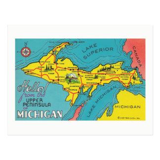 Vintage Upper Peninsula Michigan Travel Postcard