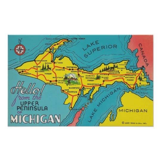 Vintage Upper Peninsula Michigan Travel Poster on michigan maps online, michigan area codes, southeastern mi map, michigan culture, michigan government, michigan trip, michigan travel brochure, michigan trivia, michigan travel destinations, michigan home, michigan-ohio map, michigan travel guide, michigan hotels, michigan vacation, michigan travel poster, michigan activities, michigan country, michigan travel information, michigan beach resorts, michigan time,