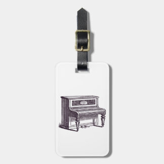Vintage Upright Piano Bag Tag