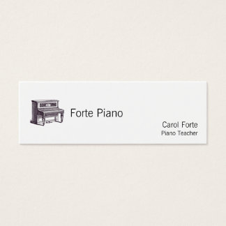 Vintage Upright Piano Mini Business Card