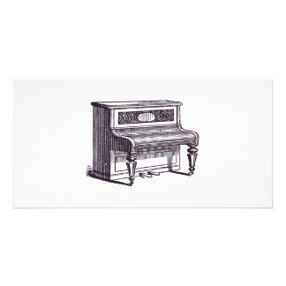 Vintage Upright Piano Photo Card