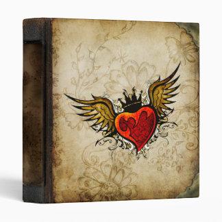 Vintage Urban Tattoo Winged Heart Letterhead Binder