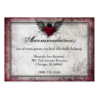 Vintage Urban Tattoo Winged Heart Particulars card