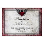 Vintage Urban Tattoo Winged Heart Particulars card Business Card Templates