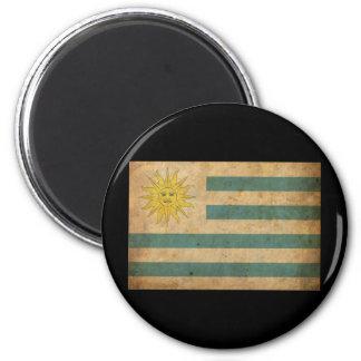 Vintage Uruguay Flag Fridge Magnet