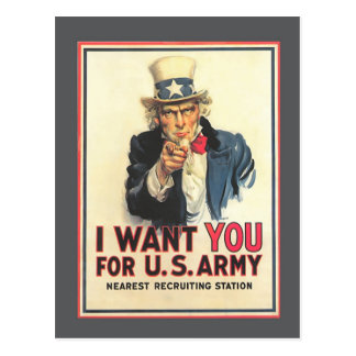 Vintage US Army Old Recruitment Poster Postcard