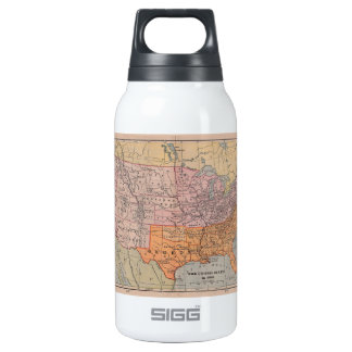 Vintage US Civil War Era Map 1861 Insulated Water Bottle