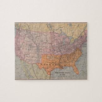 Vintage America Map Jigsaw Puzzles Zazzle