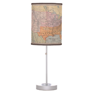 Civil War Table Pendant Lamps Zazzle - Rustic map of the us in the civil war
