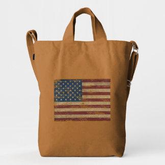 Vintage US Flag Baggu Duck Bag