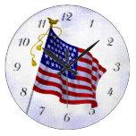 Vintage US Flag Clock With Numbers