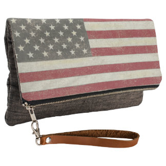 Vintage US Flag Clutch