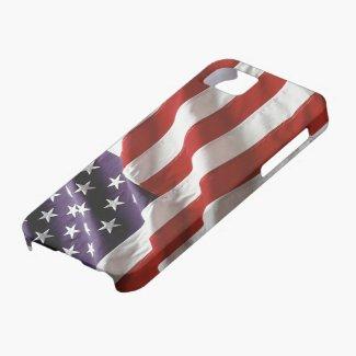 Vintage US Flag Flying High iPhone 5 Case